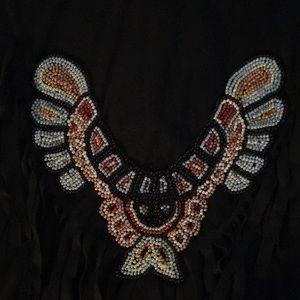 EUC Dreamgirl Native dress BEAUTIFUL beading sL